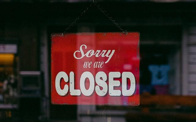 A closed shop during lockdown