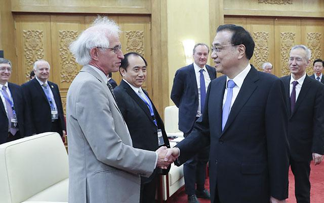 Robert Walker meeting Chinese Premier Li Keqiang