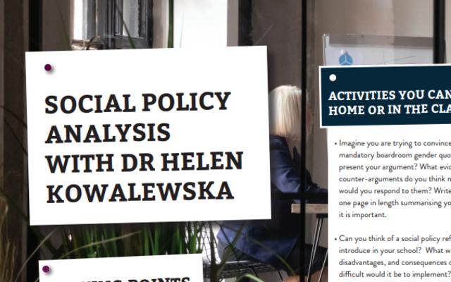 social policy analysis activity sheet