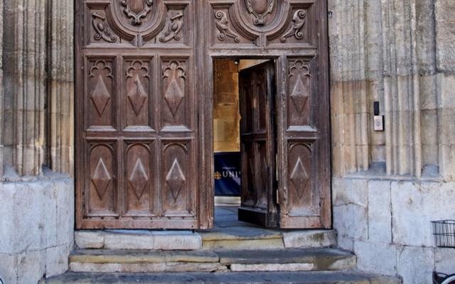 college door