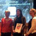 Elizabeth Nye receiving her award