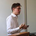 Caspar Kaiser presenting at Nuffield College
