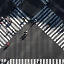 People on a crosswalk