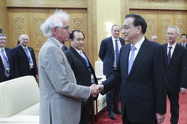 Robert Walker meeting Chinese Premier Li Keqiang