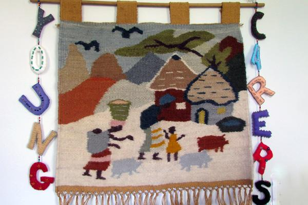 Young Carers tapestry - Teena Stabler, 2015