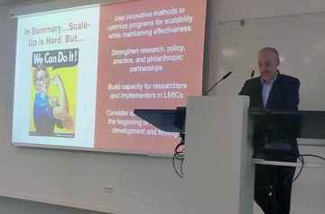 Jamie Lachman presenting