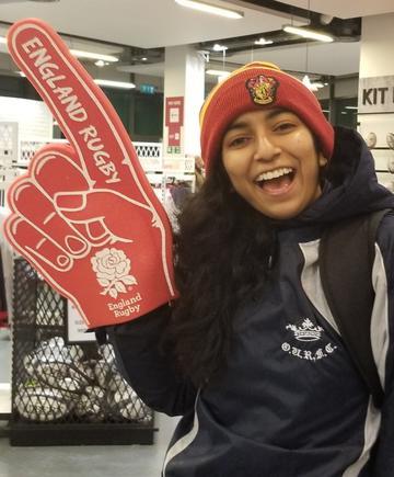 Ria at Twickenham to enjoy England Rugby