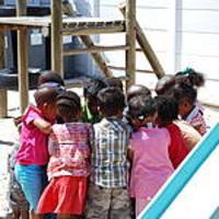 Group of children huddled together